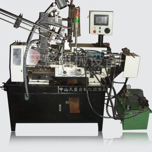 CNC automatic small end perforated flat end chamfering machine
